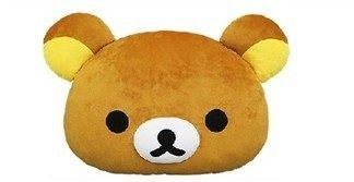 【真愛日本】15121700021 頭型抱枕-18吋懶熊 拉拉熊 Rilakkuma 懶熊 抱枕 靠枕 娃娃