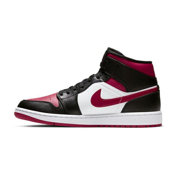 """【NIKE】AIR JORDAN 1 MID  """"BRED TOE"""" 運動鞋 飛人 中筒 8孔 籃球鞋 紅 黑 男鞋 -554724066 0"""
