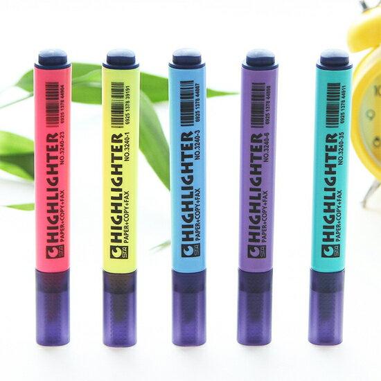 ♚MY COLOR♚三角筆桿螢光筆 學生 設計 辦公 學習 創意 文具 彩色 重點 標記【P198】