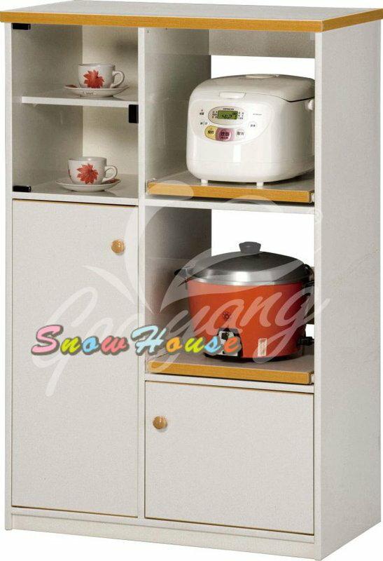 ╭☆雪之屋居家生活館☆╯AA540-08 E-006塑鋼微波爐架/置物櫃/收納櫃(附左1片下2片隔板)