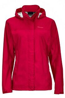 【【蘋果戶外】】Marmot46200-6537深樹莓美國女PreCip土撥鼠防水外套類GORE-TEX防風外套風衣雨衣風雨衣