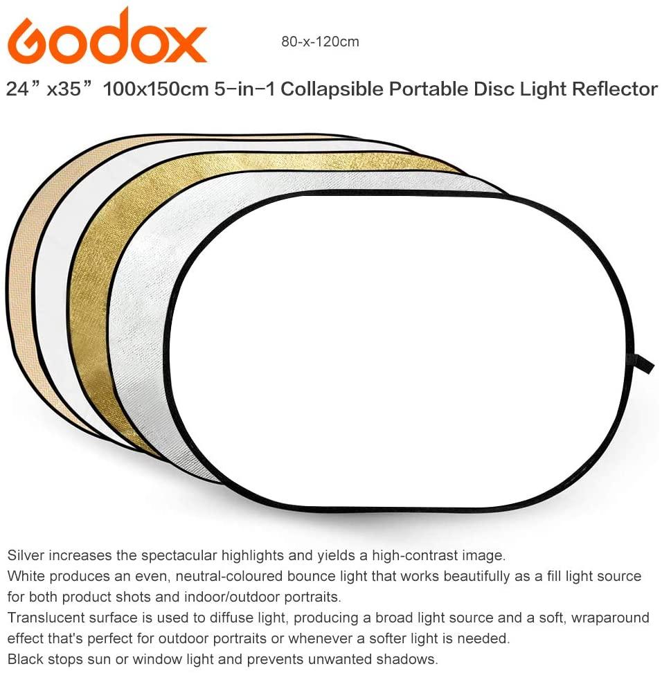 Godox 神牛 100x150cm 五合一折合彈跳展開反光板(RFT-05/100x150x5公司貨)
