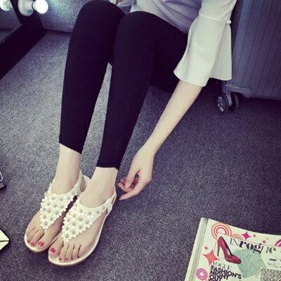 平底鞋小花羅馬涼鞋~ 優雅氣質甜美女鞋子2色73ey12~ ~~米蘭 ~