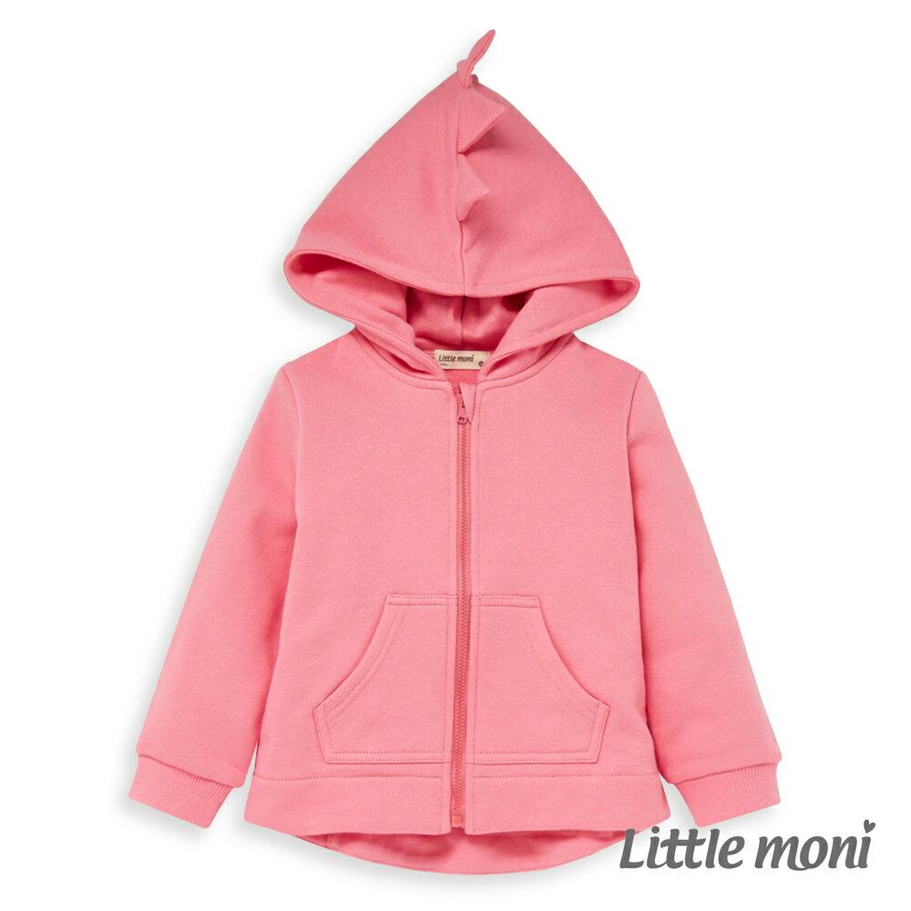Little moni 造型連帽刷毛外套-粉紅(好窩生活節) 0