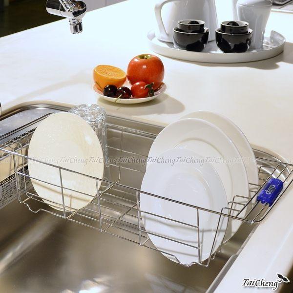 日本MAKINOU 餐具架|不鏽鋼水槽瀝水架-台灣製|置物架 收納架 杯架 牧野丁丁MAKINOU