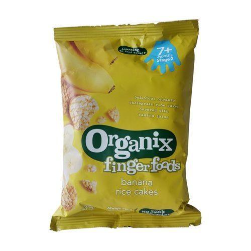 英國 Organix 歐佳 有機寶寶 香蕉 米餅 7m+