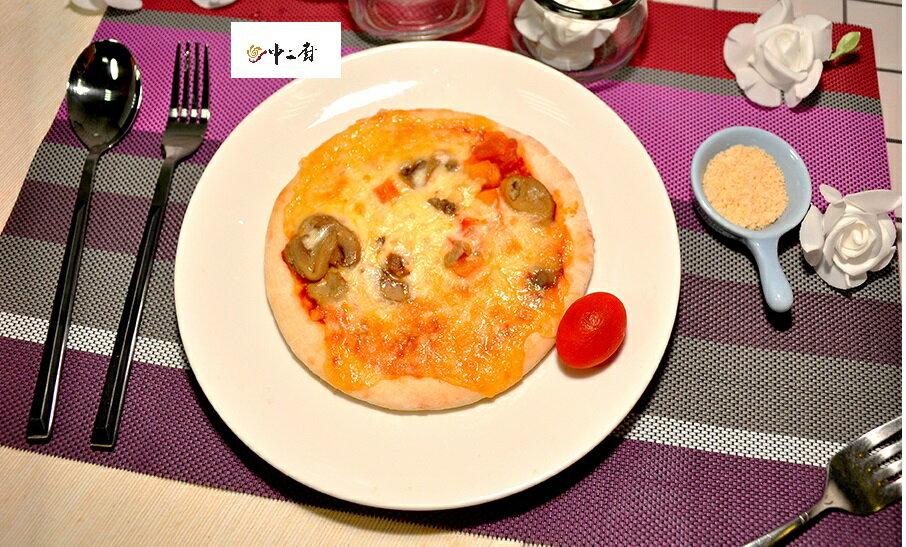 【中二廚】蕃茄蘑菇手工比薩6吋 (奶素)(160g)