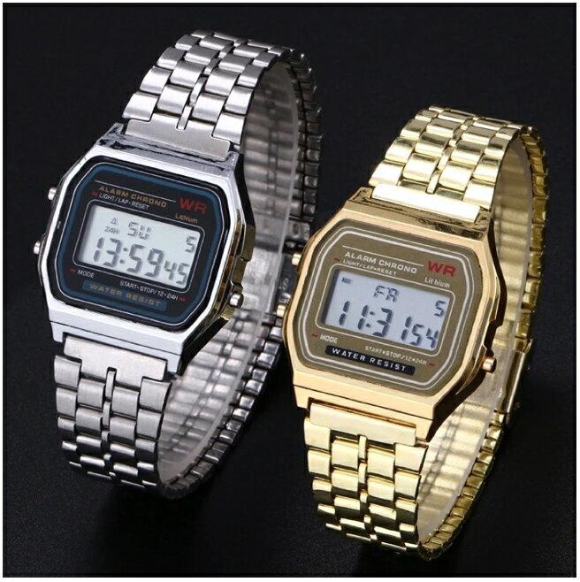 【NaYi】 生活防水 爆款非 CASIO 卡西歐 電子錶 復古錶 造型錶 金錶 藍光錶 夜光錶 情人節禮物 手錶 運動錶 夜光