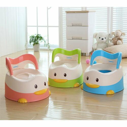 【奇買親子購物網】baby hood 淘氣鴨座便器(粉色/綠色/藍色)