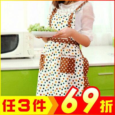 韓版田園風純棉雙層圍裙 顏色隨機【AE02414】聖誕節交換禮物 i-style居家生活