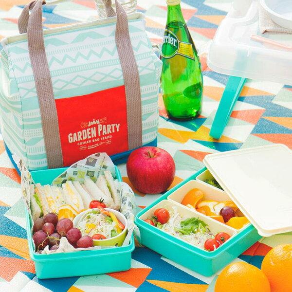 orin 原品設計:《BISQUE》2層野餐盒保溫提袋組(3款)-花園派對