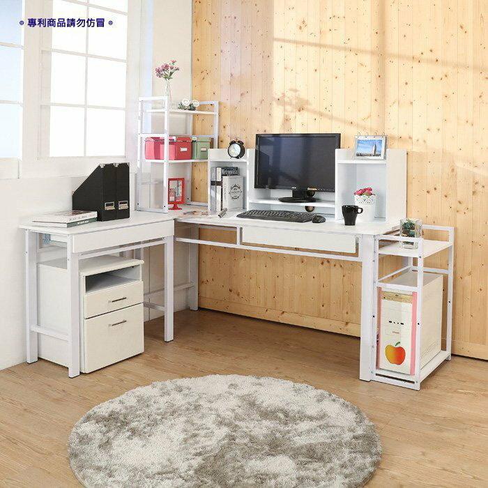 160超穩固防潑水L型電腦桌(六件組)工作桌 書桌 辦公桌【馥葉】【型號S163】