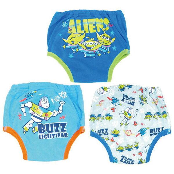 【日本進口】日本 迪士尼 Disney 玩具總動員三層學習褲/尿布褲(3件組)(90-100cm)