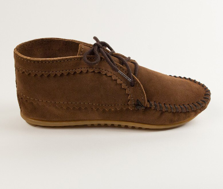 【Minnetonka 莫卡辛】棕色 - 印地安手工麂皮踝靴 2