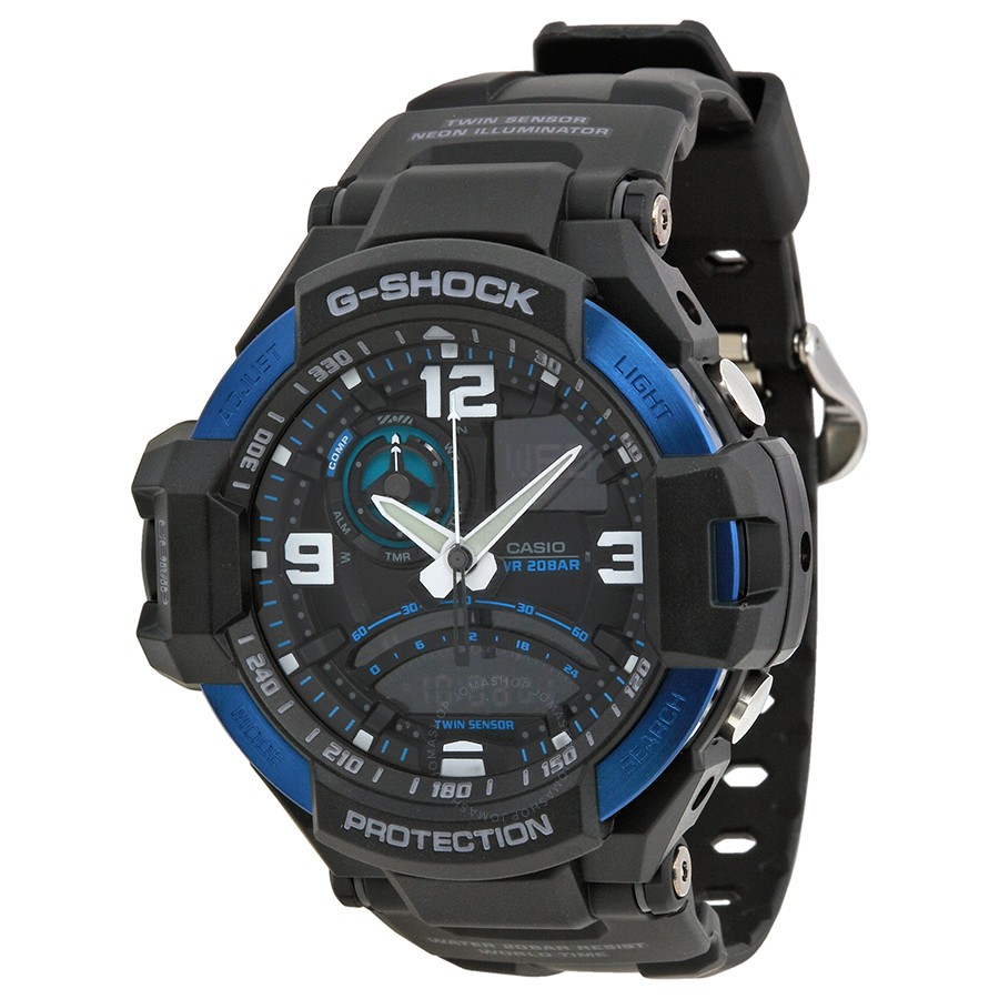 Men's Casio G-Shock Gravitymaster Compass Black Watch GA1000-2B 0