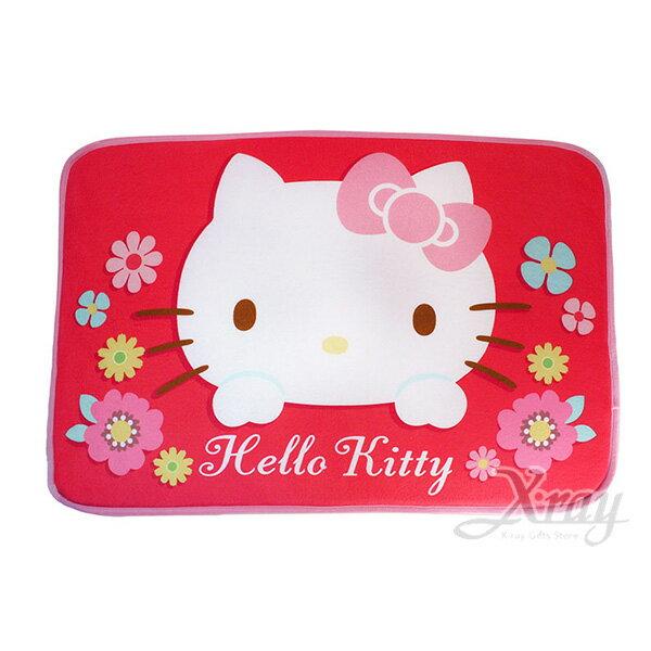 X射線【C384238】Hello Kitty 紅色腳踏墊-繽紛,地墊/地毯/止滑墊/浴室防滑墊/腳踏墊/絨毛/坐墊/室外腳踏墊