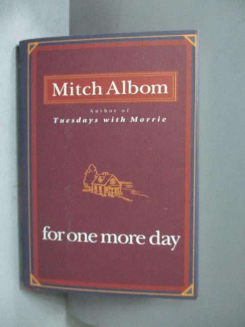 ~書寶 書T8/原文小說_MED~For One More Day_Albom Mitch