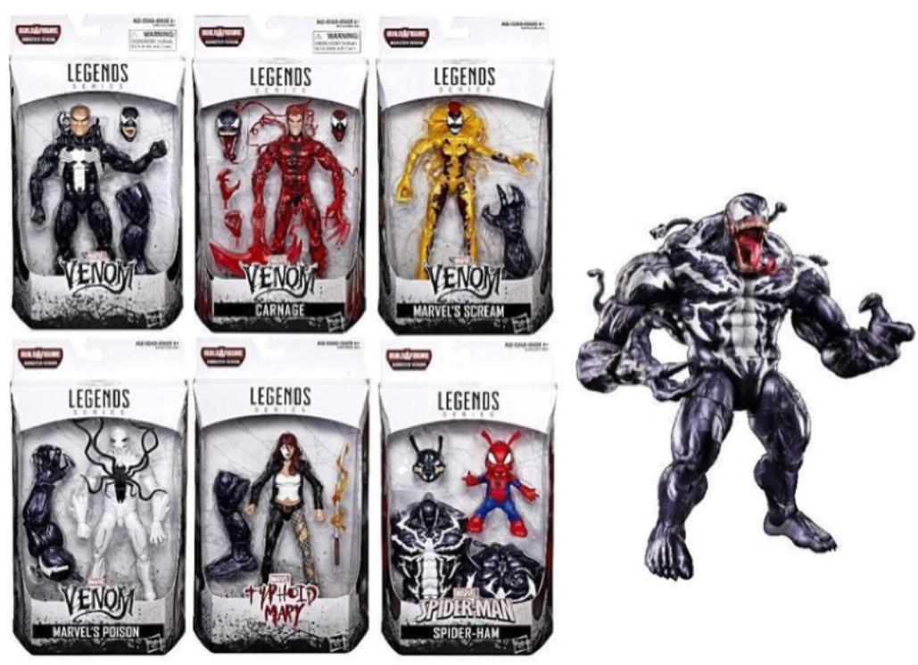 (卡司 正版現貨)Marvel legends 6吋 猛毒套 6+1 baf 猛毒 漫威 蜘蛛人 一套售