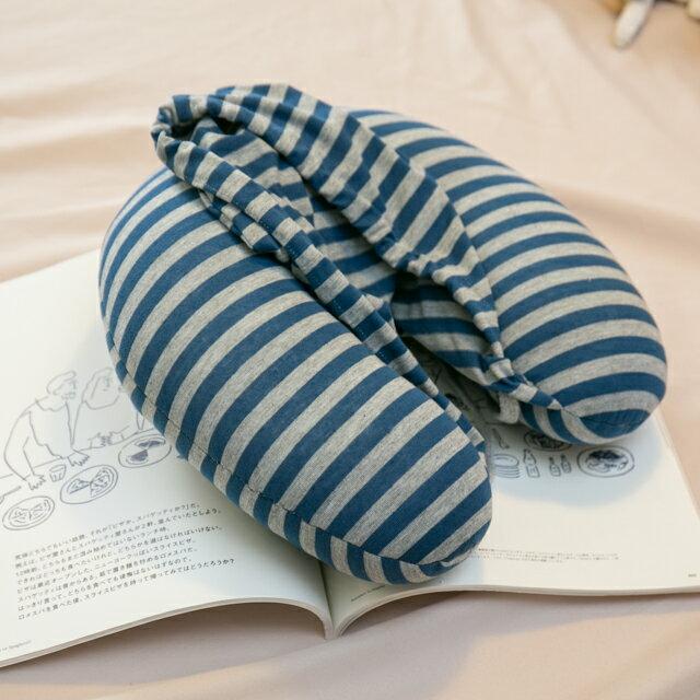 無印帽 頸枕 藍灰色 紓壓/休息 便利實用 2