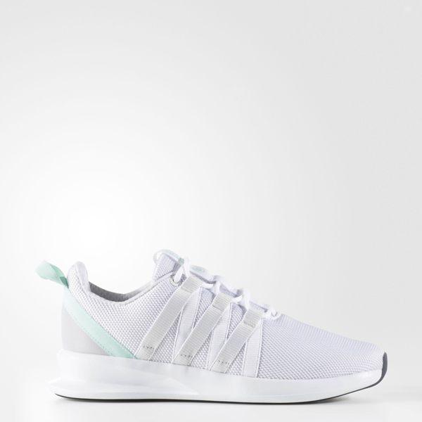 《限時特價↘7折免運》Adidas ORIGINALS LOOP RACER W 女鞋 休閒鞋 慢跑鞋 白 蘋果綠 【運動世界】 BB5076