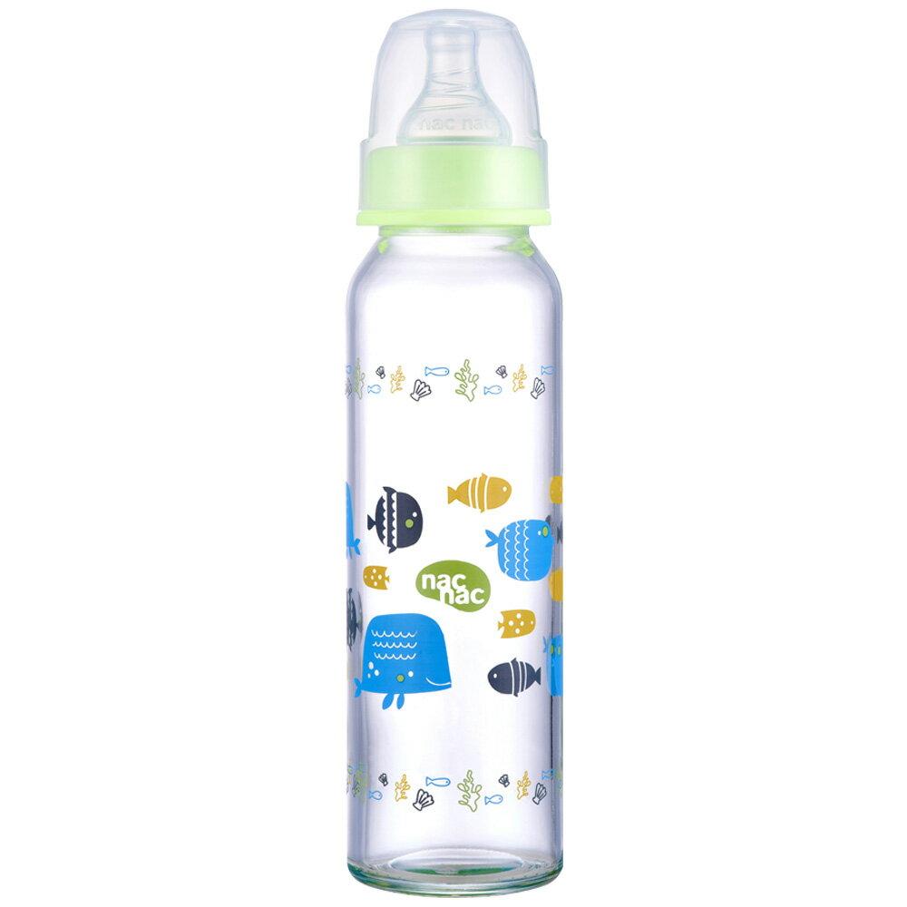 【麗嬰房】nac nac 吸吮力學標準耐熱玻璃奶瓶(240ml)