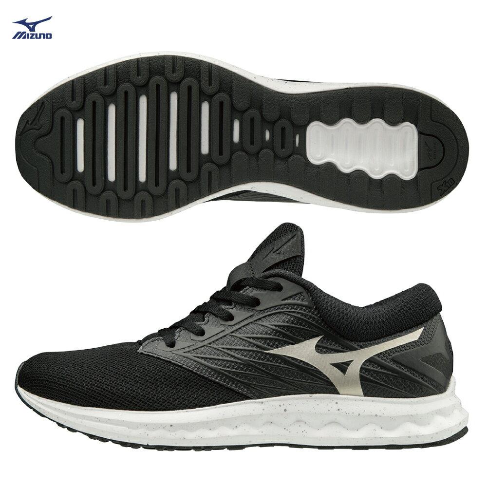 WAVE POLARIS 一般型男款慢跑鞋 J1GC198109(黑X白)【美津濃MIZUNO】 0