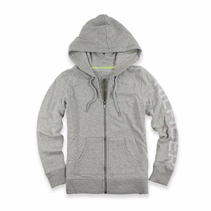 美國百分百【全新真品】Tommy Hilfiger 經典款 TH 棉質 連帽 外套 夾克 灰色 M號 I489