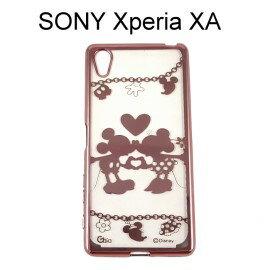 迪士尼電鍍軟殼[項鍊]米奇米妮 SONY Xperia XA F3115 (5吋)【Disney正版授權】
