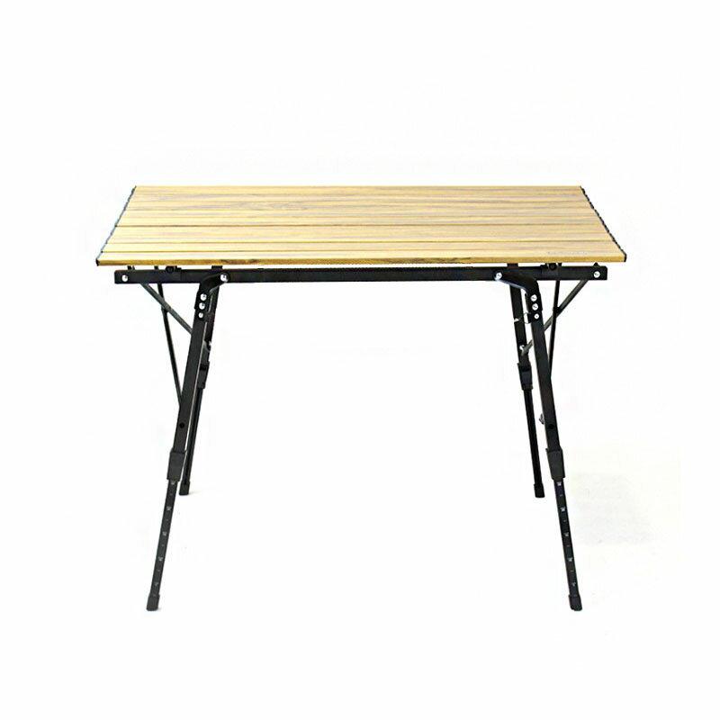 【露營趣】新店桃園 DS-407 木紋蛋捲桌 90cm 休閒桌 露營桌 野餐桌 木紋桌 折疊桌 摺疊桌