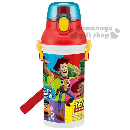 特價399↘〔小禮堂〕迪士尼 玩具總動員 日製直飲式水壺《藍紅白.胡迪.彩色格》480ml