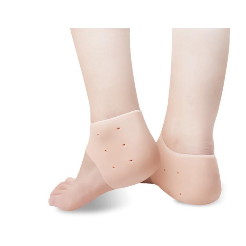 【膚色】腳跟防裂套 矽膠足跟保護套 防裂襪 矽膠足跟保護套 男女士秋冬腳後跟防乾裂襪套 保濕護腳DIGITAL1129劉