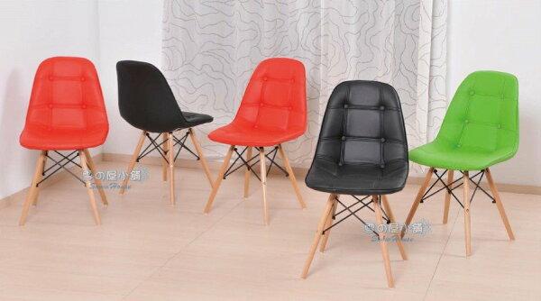 ╭☆雪之屋居家生活館☆╯R594-0102038056鈕扣木腳皮椅休閒椅造型椅洽談椅會客椅辦公椅