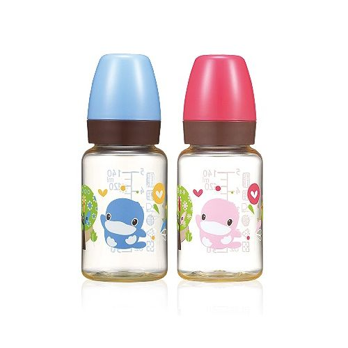 ★衛立兒生活館★KUKU酷咕鴨 歐風經典PES奶瓶標準口徑-140ml(顏色隨機出貨)