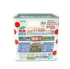 日本 大十全內外牆/木/鐵水性防霉防銹塗料10L-象牙