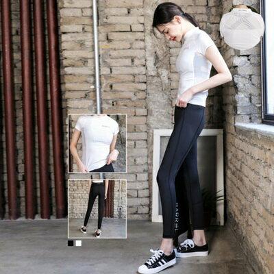 瑜珈服兩件套運動套裝 -戶外速乾性感拼網女健身衣2色73mt5【獨家進口】【米蘭精品】
