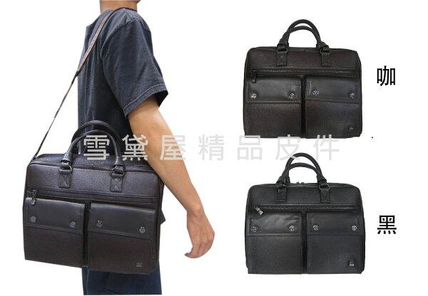 ~雪黛屋~18NINO81公事包美國專櫃中小容量二層主袋可A4資夾100%進口牛皮革提肩斜側長背帶BNI3512712