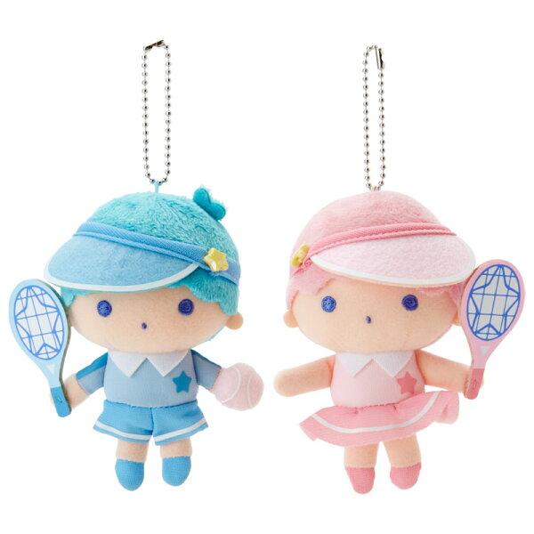 【真愛日本】4901610382752兩入珠鍊吊娃-TS網球ACQ雙子星KIKILALA吊飾娃娃鑰匙圈