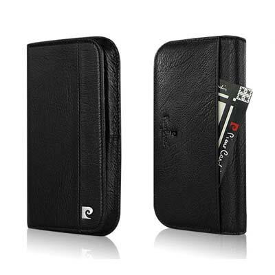 [ iPhone6/6S ] Pierre Cardin法國皮爾卡登4.7吋錢夾式真皮手機套/保護套/皮套 可放信用卡/提款卡/悠遊卡/鈔票 黑色