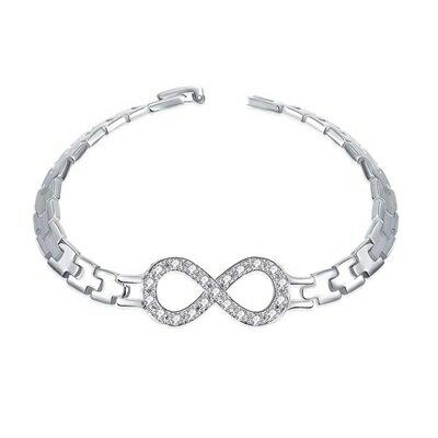 925純銀手環 鑲鑽手飾~艷麗耀眼閃耀迷人情人母親節生日情人節 女飾品73cc128~ ~
