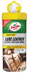 Turtle Wax美國龜牌 Luxe Leather 皮革保養飾板多用途擦拭巾