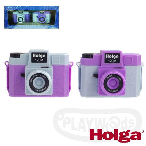 ~Playwoods~^~HOLGA^~MINI 120M雙色微型相機吊飾~藍紫色^(兩入