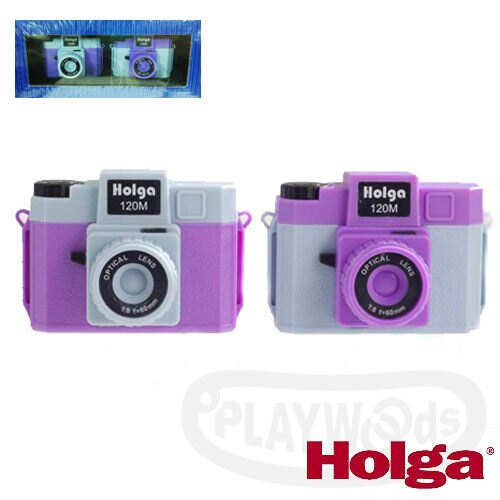 ~Playwoods~ HOLGA MINI 120M雙色微型相機吊飾~藍紫色 兩入組