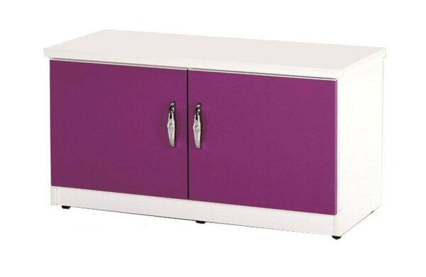 【石川家居】852-07(紫白色)座鞋櫃(CT-306)#訂製預購款式#環保塑鋼P無毒防霉易清潔