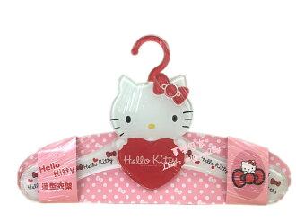【真愛日本】16081000002造型壓克力衣架-紅  三麗鷗 Hello Kitty 凱蒂貓 衣架 居家用品