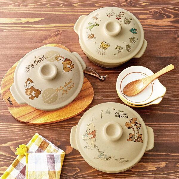 |現貨|日本直送|萬古燒Disney迪士尼砂鍋陶鍋1L|日本製|2款|小熊維尼奇奇蒂蒂|免運