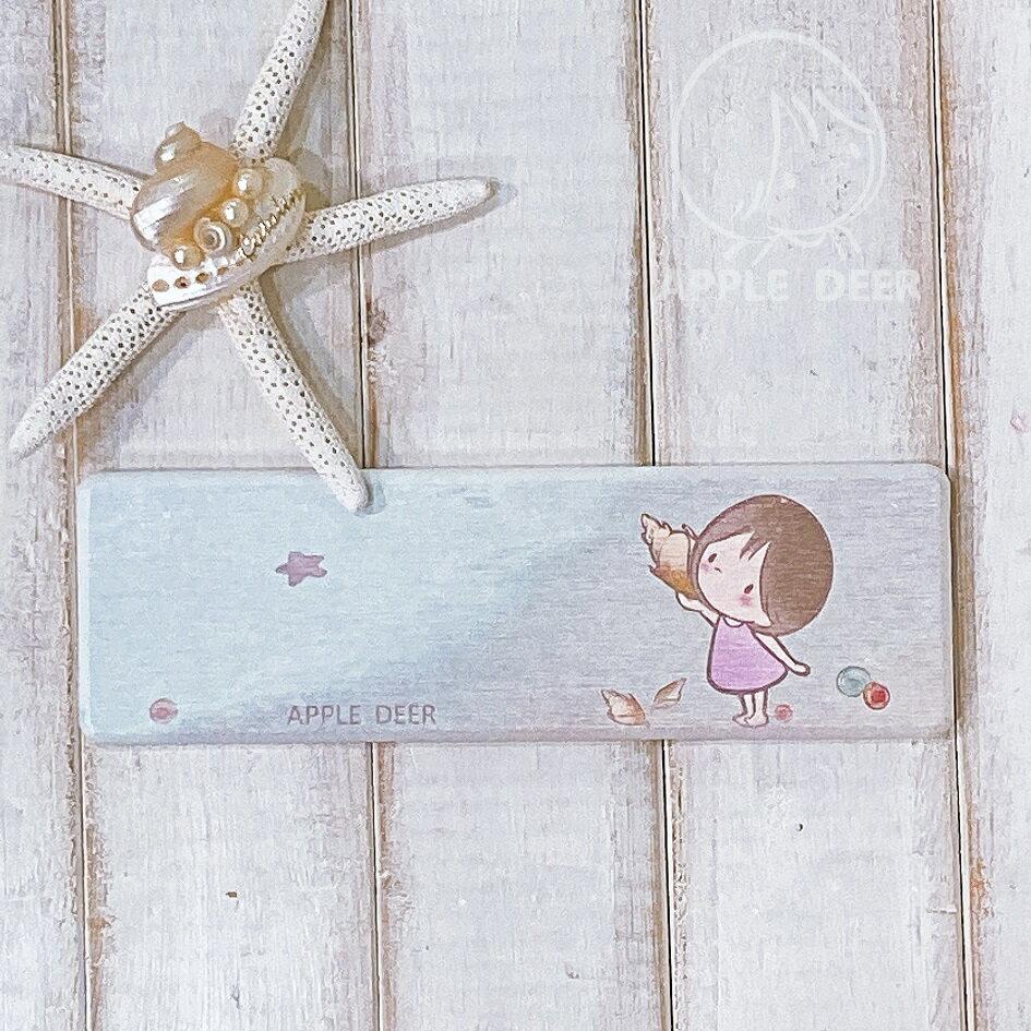 【蘋果小鹿】 布蕾女孩  文創 硅藻土洗手台墊 - 海邊 0
