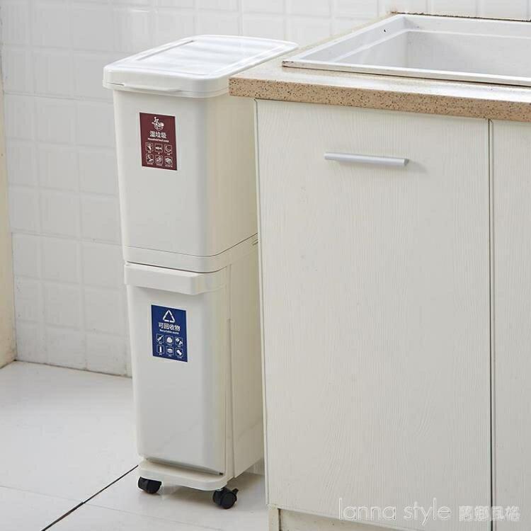 台灣現貨 垃圾桶家用商用分層分類廚房大號帶蓋雙層干濕分離客廳有蓋大容量 新年鉅惠