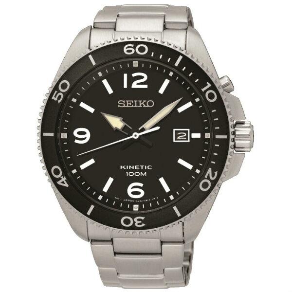 SeikoCS系列5M82-0AY0D(SKA747P1)人動電能大直徑運動腕錶黑面44.7mm