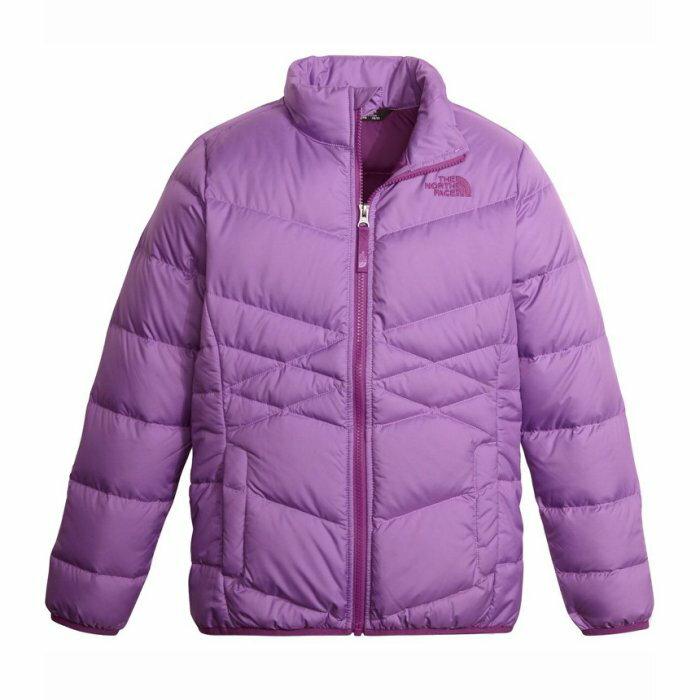 美國百分百【The North Face】外套 TNF 羽絨 夾克 立領 北臉 550 女 紫色 S號 I804