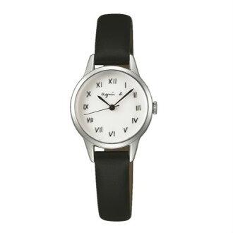agnes b VJ21-KT60S(BH8025X1)簡約羅馬時尚腕錶/白面26mm
